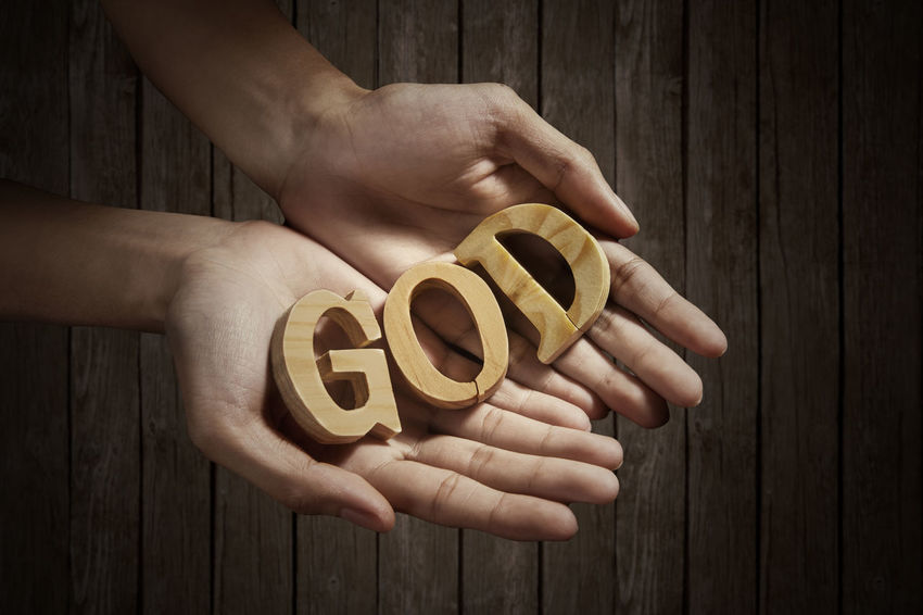 Close-up Food God Holding Human Body Part Human Hand Palm People Ready-to-eat Wood - Material Wooden Letters