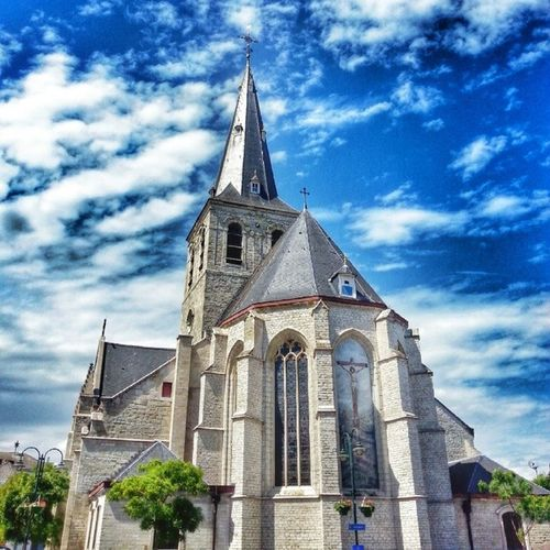 The pretty church of my home town Lebbeke . Thought I'd share a bit of home with you ;-) • TstHome • Belgium Travel Photography