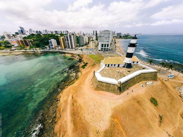Farouk da Barry - Salvador - Bahia - Brasil Lighthouse Faroldabarra Salvador Bahia Brazil Brasil Beach Praia Aerial Shot Aereo