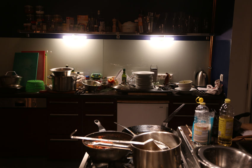 1803, Hamburg Commercial Kitchen Cooking Utensil Domestic Kitchen Domestic Room Food Home Interior Illuminated Indoors  Kitchen Kitchen Counter Night No People Shelf