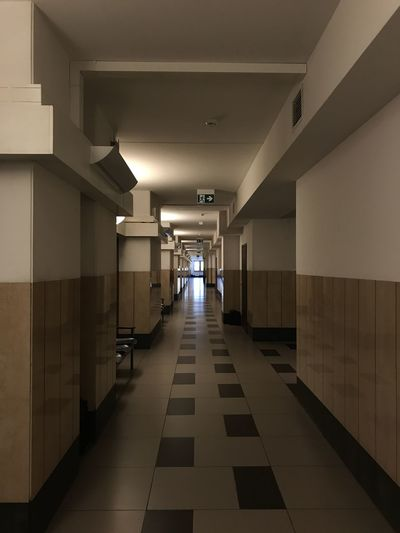 Absence Arcade Architectural Column Architecture Building Built Structure Ceiling Corridor Diminishing Perspective Direction Empty Flooring Illuminated Indoors  Lighting Equipment Long No People The Way Forward Tile Tiled Floor Wall - Building Feature