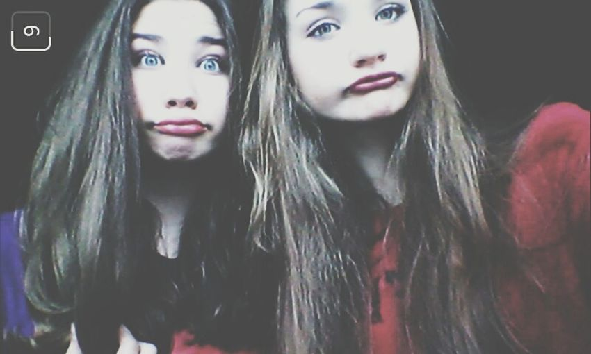 Sis Sisters ❤ SisterLovee ♥ Stupid Stupidface Stupidgirl Fun Funyyface Funytime Selfietime i love my little princess ♥