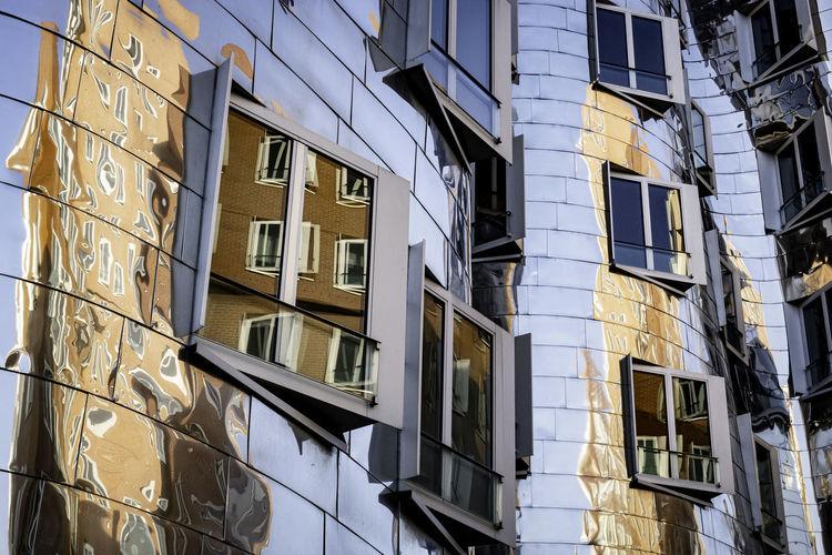 Full frame shot of shiny building