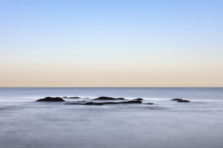 Beach Blue Clear Sky Horizon Horizon Over Water No People Sea Tranquil Scene Tranquility Water