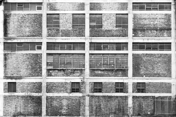 Industrial Building off the River Lea, Poplar, London, England, United Kingdom Architecture Backgrounds Building Exterior Built Structure Day Full Frame No People Outdoors Window