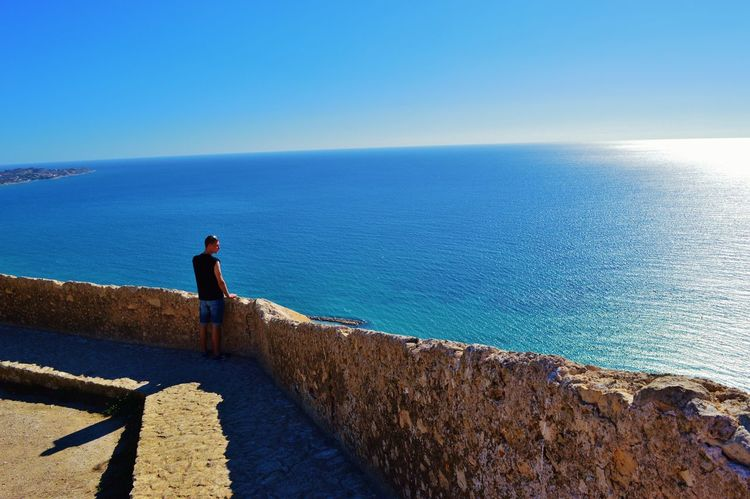 Clear Sky Day Horizon Over Water Nature One Person Outdoors Sea Sky SPAIN Water
