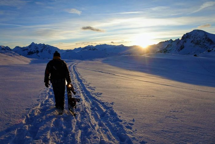 Long Goodbye Nature One Person Winter Outdoors One Man Only Snow Montagnes Mountains France Landscape Alpes Beauty In Nature Snow ❄ Winter
