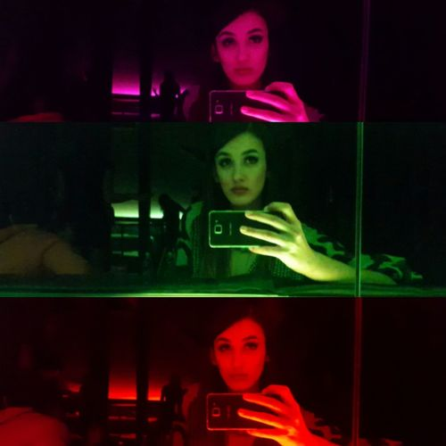 All the neon lights Red Green Pink Lights Colours Colorlights Night Lights Eyemphotography Nightphotography Party Clubbing Clubmaster Selfie Doubleselfie Tripleselfie Hot Hottie Beauty Swag