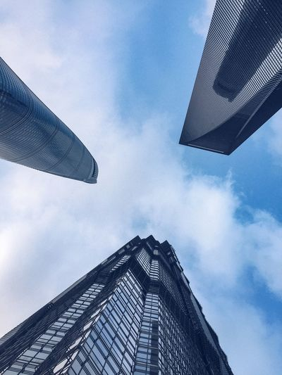 the towers. Sky