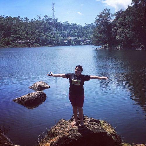 explore Bandung Bandung Situ Patenggang Water Standing Lake Full Length Arms Outstretched Sky First Eyeem Photo