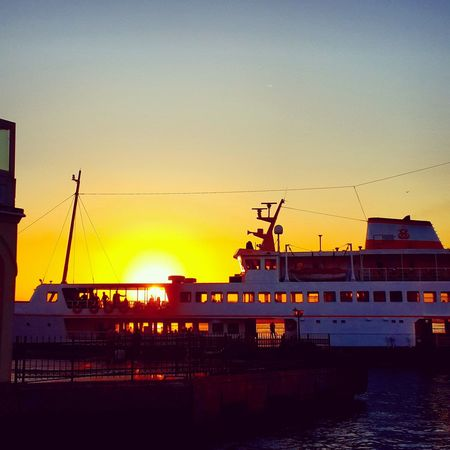 carrying the sun inside... Ferryboat Istanbullovers Sunset In Istanbul