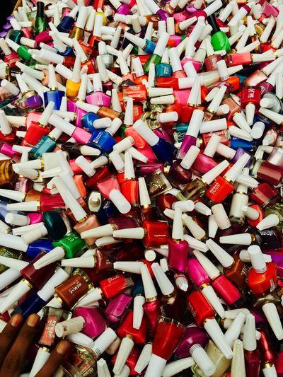 Color 'em nails like a rainbow Nailpolish Colors IPhoneography Marketplace Flea Markets Delhi Streets