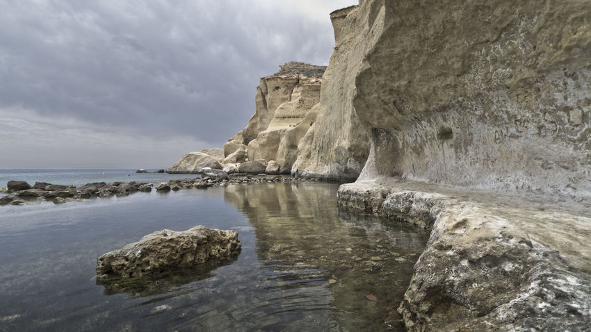 Beauty In Nature Cliff Napatu Nature No People Outdoors Playa Cocedores Rock - Object Rock Formation Scenics Sea Sky Tranquil Scene Tranquility Water