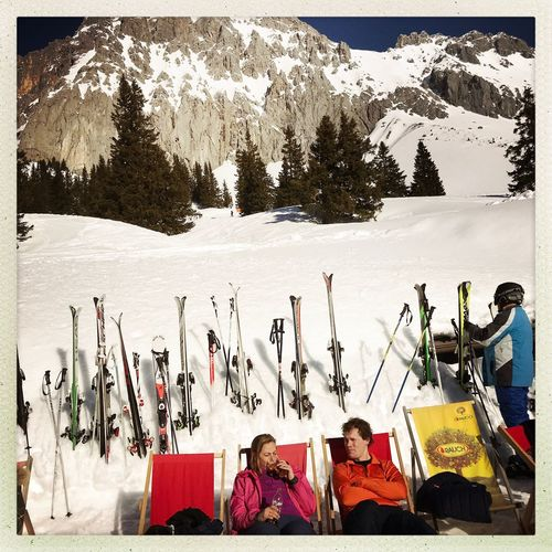 Tirol Ehrwald Sitting Real People Day Snow Mountain Outdoors Adult