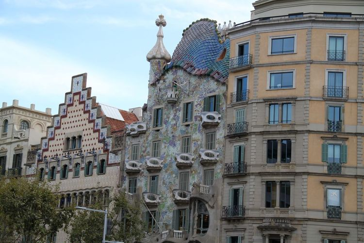 Barcelona Casa Batllo Gaudi Sightseeing Architecture Building Exterior Built Structure City No People Outdoors