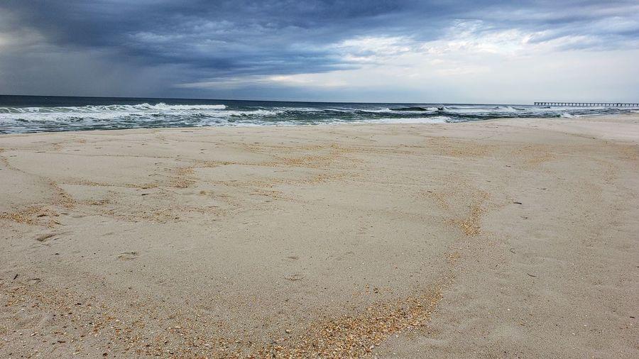 Water Low Tide Sea Beach Sand Wave Sky Horizon Over Water Landscape Cloud - Sky