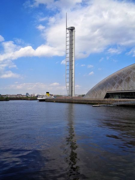 Cloud - Sky Built Structure Architecture No People Water Bloodylampposts Glasgow Tower Reflections In The Water