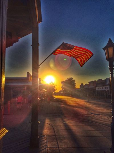 Flag Sunset Mycolorfulsky America