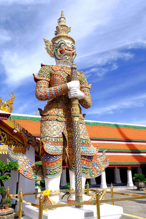 titan of Thai mythology Ancient Architecture Art Building Cloud Day Fairy Tale Giant Guard High History Mythology Old Outdoors Place Of Worship Religion Sky Story Tall Temple Thai Architecture Thai Art Titan Tourism Travel