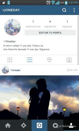 Siguenos en Instagram Amor Oneday Love