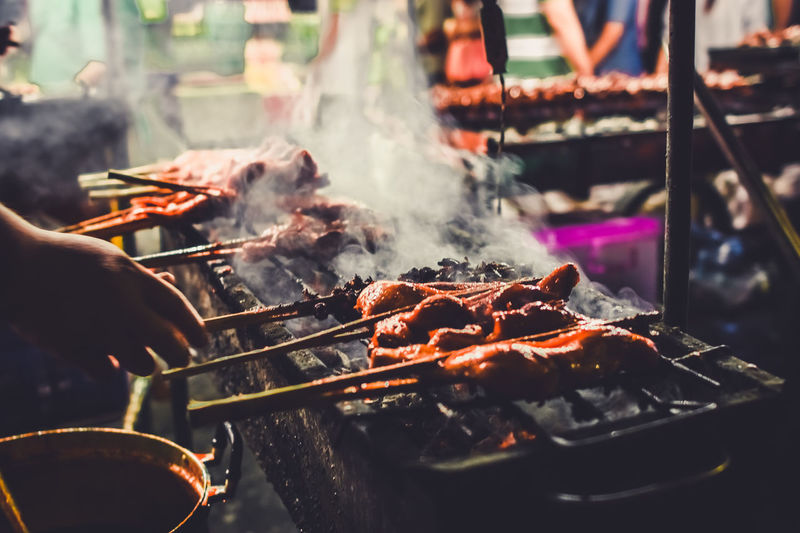 Grilled chicken is one of the most popular street food of Thailand. Streetphotography Street Food Thailand Street Foods Street Food Thailand Thai Grilled Chicken Grilled Chicken Grilled Chicken .Thailand Food Style Grilled Meat