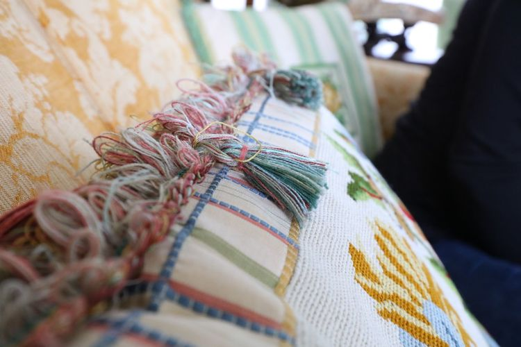 Close-up of pillow at home