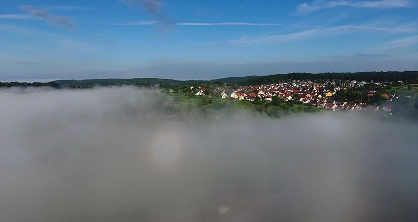 Droneoftheday Sky Cloud - Sky Outdoors Beauty In Nature Drone Dji Dronephotography Drone  Phantom4 Tübingen EyeEmNewHere Cloud über Den Wolken Lost In The Landscape Perspectives On Nature Colour Your Horizn Go Higher