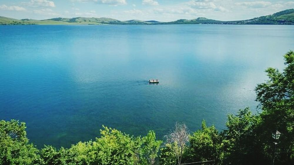 Beach Water Nature Sky Landscape Outdoors Tree Lake Lake View Wet Beauty In Nature Sunny High Angle View The Great Outdoors - 2017 EyeEm Awards Blue Color Bkue Sky Travel Destinations Blue No People Cloud - Sky Nautical Vessel Bashkiria Summer2017🌞