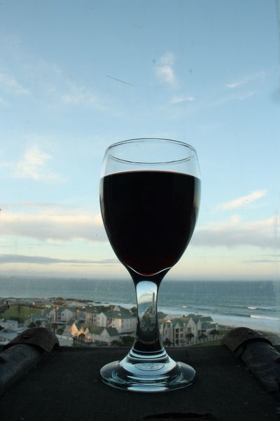 Through the looking glass. Afternoon Beverage Close-up Cloud Cloud - Sky Day Drink Food And Drink Freshness Glass Glass - Material Horizon Horizon Over Land Reflection Reflections Refreshment Sea Sky Tranquility Wine Glass Wineglass