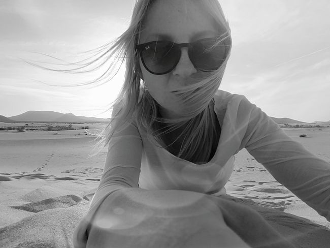 Blackandwhite That's Me Sand Selfie ✌ Dessert