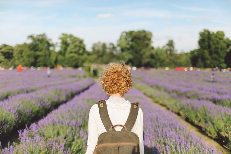 Beauty In Nature Blonde Curly Hair Day Field Flower Focus On Foreground Girl Grass Green Color Growth Landscape Lavanda Lavander Lavander Flowers Lavanderfields Nature Outdoors Park Plant Scenics Sky Tranquil Scene Tranquility Tree Break The Mold TCPM Breathing Space Been There. Lost In The Landscape Connected By Travel An Eye For Travel Summer Exploratorium #FREIHEITBERLIN