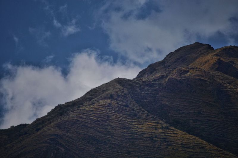 Ancient terraced mountain tops in Pisac, Sacred Valley, Peru. Ridges Steps Mountain Steps Colors Smooth Mountaintop Uphigh Highview Lookingup Mountain View Mountains And Sky Terrace Terraces Ancient Inca Pisac Perumountain Zoom Eagleeye Beauty In Nature Nature Mountain Landscape Cloud - Sky