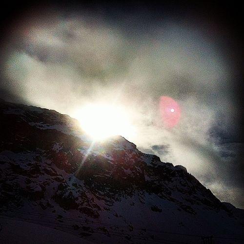 Laplagne Rochedemio Ski Snow skiing sunset sun montagne mountains winter