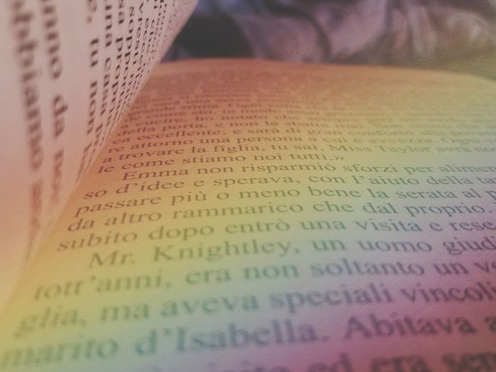 Book Books Books ♥ Reading A Book Rainbow Rainbow Colors Jane Austen Jane Austen Time Jane Austen Book