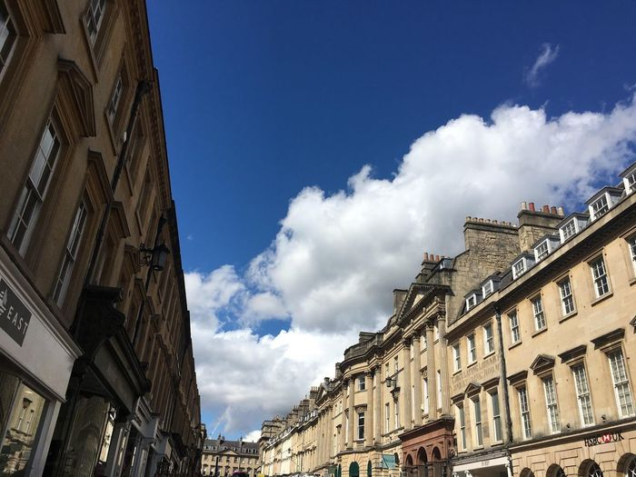Old Buildings Architecture Built Structure Building Exterior Sky Cloud - Sky Low Angle View Nature Day No People History Sunlight Blue Building Travel