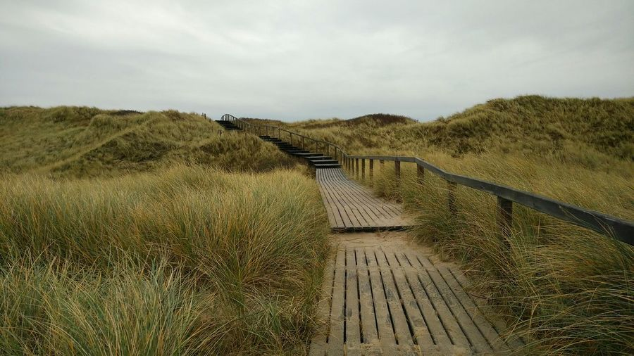 Planking. · Rantum Sylt Germany Island Nordsee Northern Sea Dunes Grass Nature Landscape Beauty Gray Sky Wonderful Day