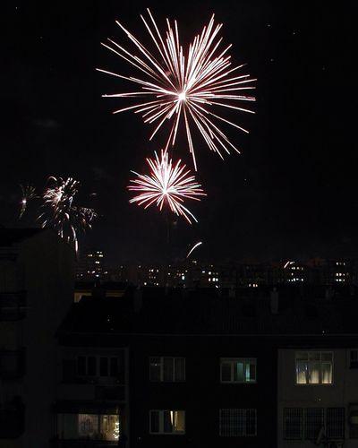 Fireworks New Year City