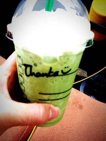 一番これが好き♡ Starbucks 抹茶フラペチーノ うまい Message Cute♡