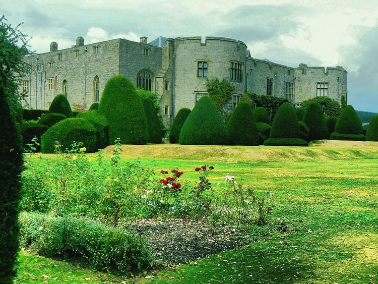 Castle View  and Gardens at Chirk Castle Wales