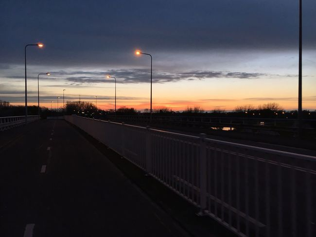 Street Light Sky Sunset No People