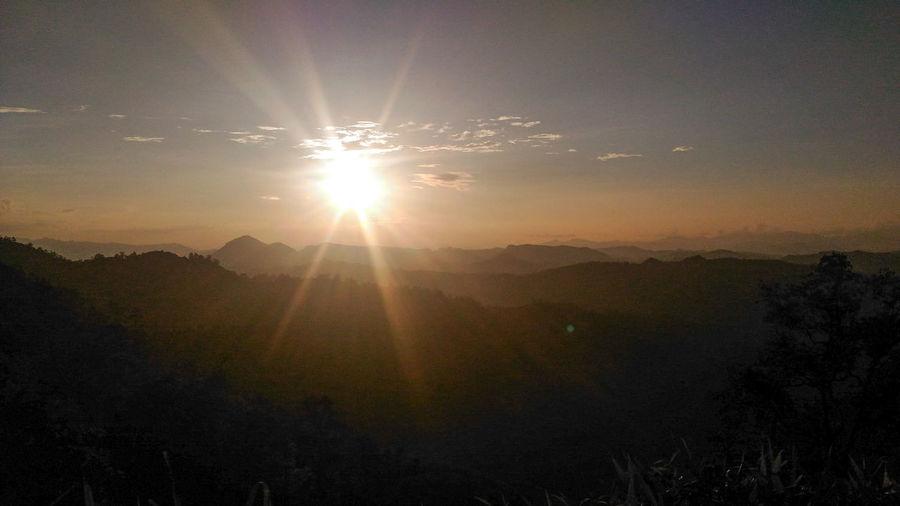 Sunset @Doi Kiew Lom Sunset Mountain Maehongson Pangmapha