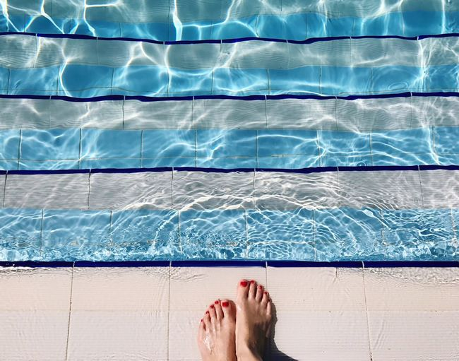 Swimming Pool Human Foot Barefoot One Person Human Leg Low Section Human Body Part Water Leisure Activity Personal Perspective Relaxation Summer One Woman Only Real People Lifestyles Only Women Vacations Women Day Tile Summertime Swimming Breathing Space Be. Ready. Love Yourself Summer Exploratorium