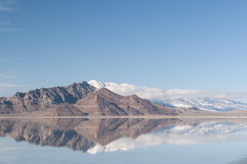 EyeEmNewHere Utah Beauty In Nature Day Environment Idyllic Lake Landscape Mountain Mountain Peak Mountain Range Nature No People Non-urban Scene Outdoors Reflection Reflections In The Water Remote Salt Flat Scenics - Nature Sky Tranquil Scene Tranquility Water Waterfront EyeEmNewHere