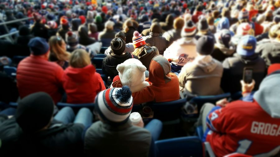 Bears fan. Crowd Of People Crowd Outdoors People Match - Sport Stadium Atmosphere Stadium Seating People And Places Sporting Sporting Events Tilt-shift EyeEm Best Shots EyeEm Best Shots - People + Portrait EyeEm Foxborough, Massachusetts 508 Imagery