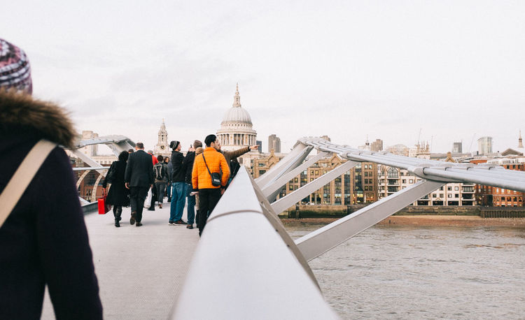 Over there Architectural Feature Architecture Building Exterior Built Structure Church City City Life Dome Famous Place Friendship Fujifilm_xseries Leisure Activity Lifestyles London LONDON❤ Low Angle View Millenium Bridge Modern People Place Of Worship Religion Showcase: January Togetherness Travel X100S