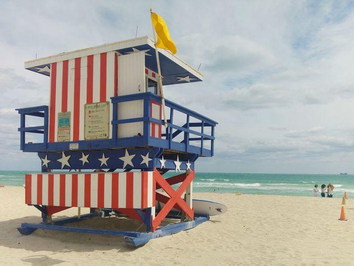 Beach Photography Beach Life Sunshine Enjoying The Sun Lifeguard Station American Flag America Florida South Beach Miami Trip Exploring Art BuildingPorn