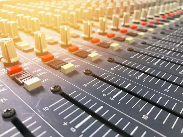 Audio Equipment Close-up Control Panel Day Electronics Industry Indoors  Knob Mixing Music No People Radio Station Recording Studio Sound Mixer Sound Recording Equipment Switch Technology