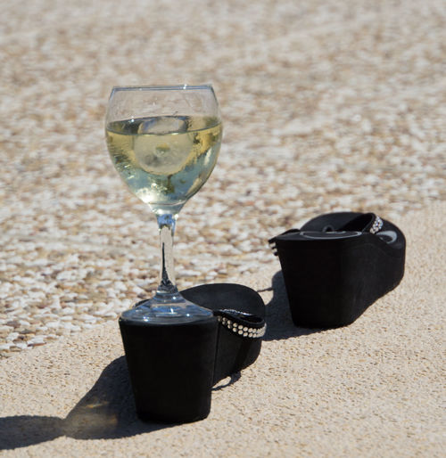 Black Shoes!!  Shoes ♥ Beach Close-up Day Drink Drinking Glass Glass Wine No People Outdoors Shadow Wine Wineglass