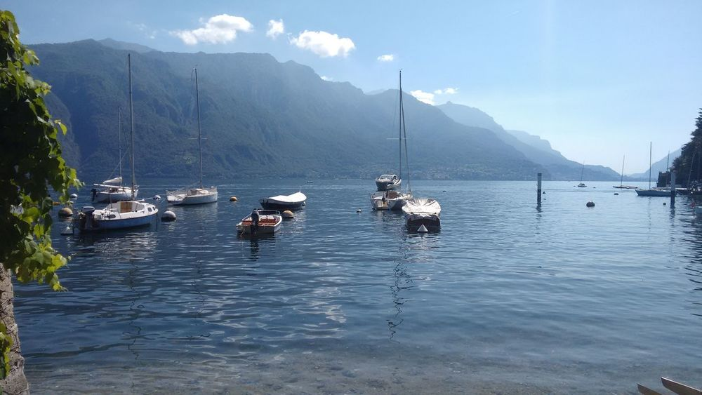 Beauty In Nature Beauty In Nature Bellagio Boat Day Lake Lake View Little Village Mode Of Transport Moored Mountain Mountain Range Nature Nautical Vessel Outdoors Real People Scenics Sky Sumer&relax Transportation Vacation Water Waterfront