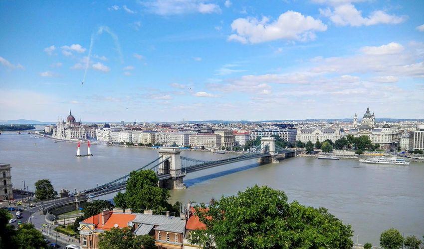 Chain bridge in the danube of budapest